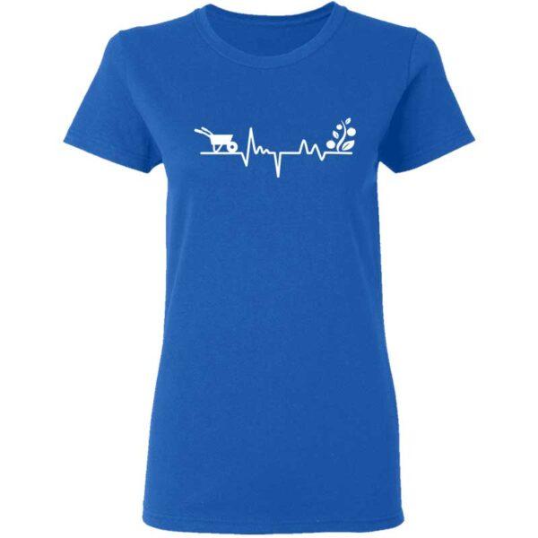 Gardener Heartbeat Plant Lover Womans T Shirt Royal Blue