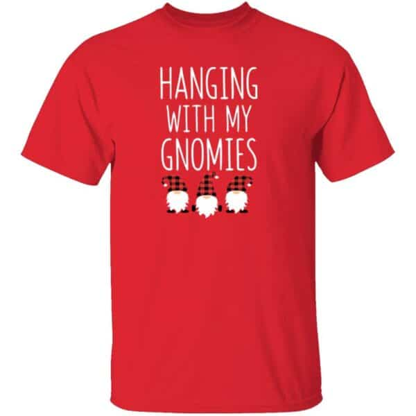 Hanging With My Gnomies Mens T Shirt Red