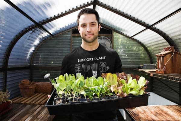 Support Plant Parenthood Mens T Shirt Black Man