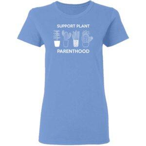 Support Plant Parenthood Womans T Shirt Carolina Blue