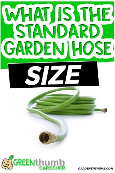 what is the standard garden hose size