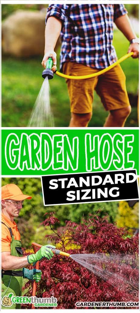 garden hose standard sizing